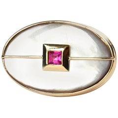 Gold Ruby Cocktail Ring