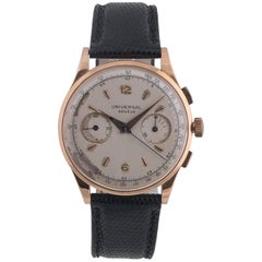 Universal Genève Pink Gold Uni-Compax wristwatch Ref 124103, circa 1950s