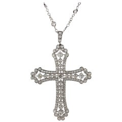Diamond Cross Pendant and Chain