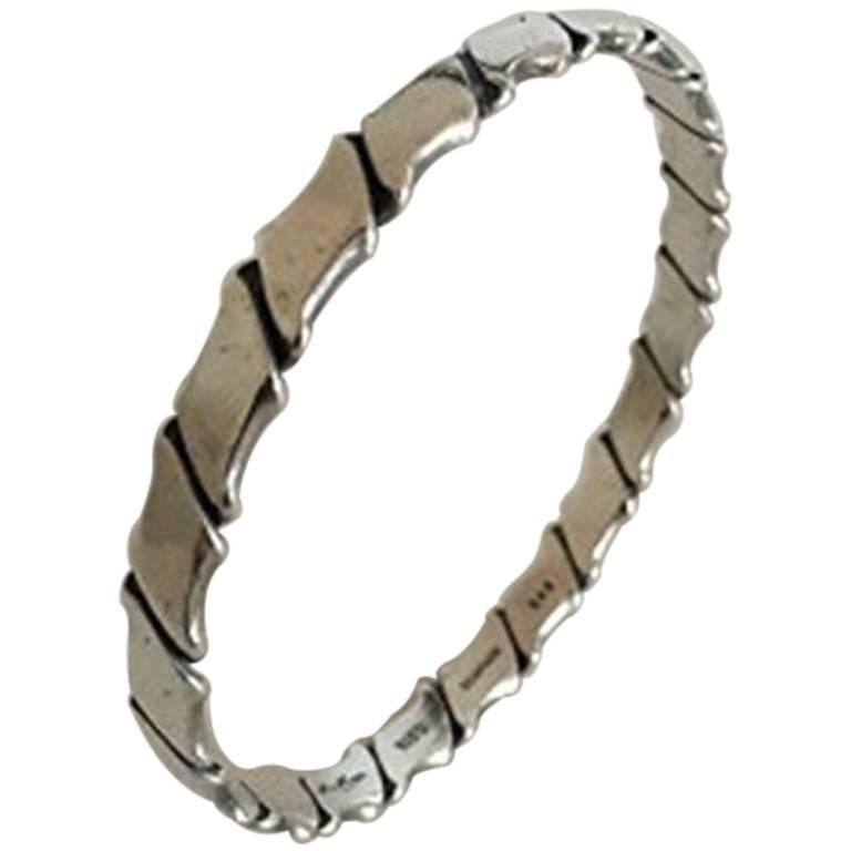 Hans Hansen Sterling Silver Bracelet in Sterling Silver #203