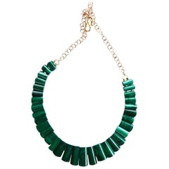 Malachite Gold Necklace