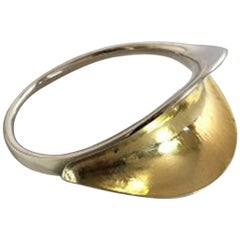 Hans Hansen Sterling Silver Bangle/Bracelet #251, Gilded