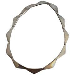 Hans Hansen Sterling Silver Necklace Peak No 315