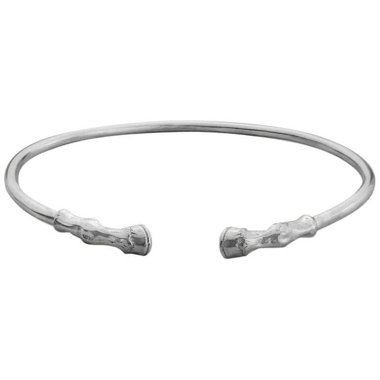 Horse's Hooves Bangle in Sterling Silver