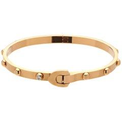 Louis Vuitton 18 Karat Rose Gold Diamond Bangle Bracelet