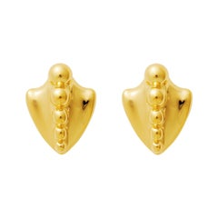 Gold Vermeil Ball Spine Earrings
