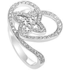 Louis Vuitton Idylle Blossom Women's 18 Karat White Gold Diamond Heart Ring