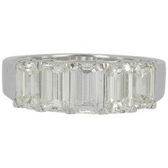 Emerald Cut Diamond Eternity Band Ring 2.71 Carat