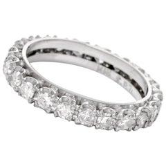 1950s Vintage Diamond 18 Karat White Gold Eternity Band Ring