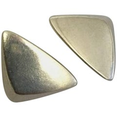 Hans Hansen Sterling Silver Ear Clips No 440