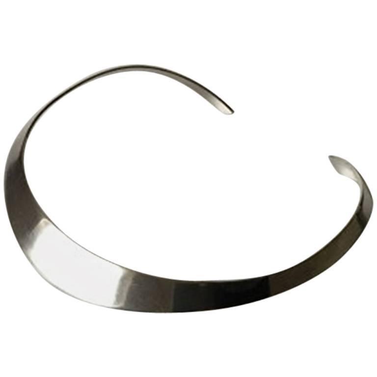Hans Hansen Modernist Sterling Silver Lightweight Necklace