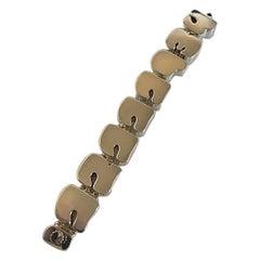Hans Hansen Sterling Silver Modernist Bracelet with Number Links