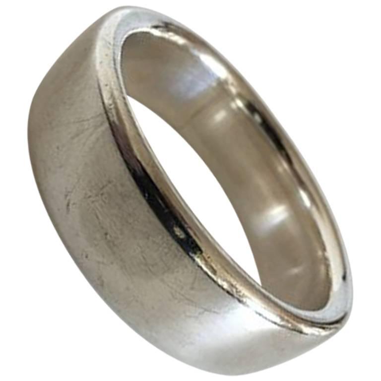 Hans Hansen Large Sterling Silver Bangle Bracelet For