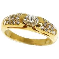 Bvlgari Diamonds 18 Karat Yellow Gold Ring