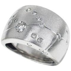 Repossi Astrum Taurus Diamonds 18 Karat White Gold Ring