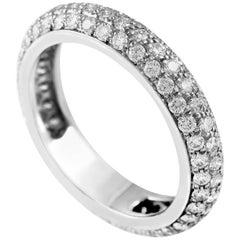 Cartier Platinum Diamond Pave Eternity Band