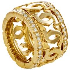 Cartier C de Cartier Women's 18 Karat Yellow Gold Diamond Band Ring