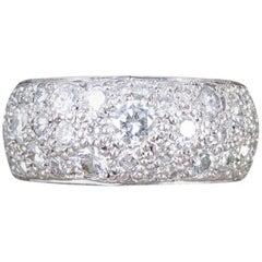 Diamond 2.2 Carat Thick Eternity Ring in 18 Carat White Gold