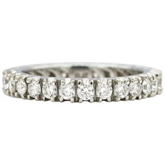 Diamond Eternity Band with Approximately 1.50 Carat Set in Platinum