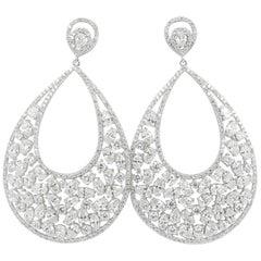 14.67 Carat Diamond Earring 18 Carat White Gold