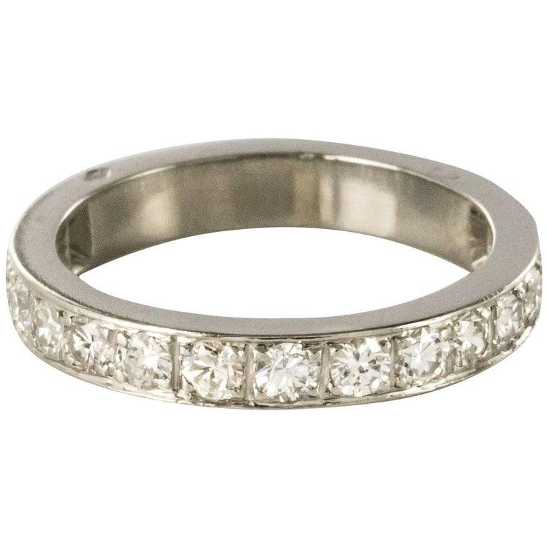 1930s Art deco French Platinium Diamond Wedding Ring