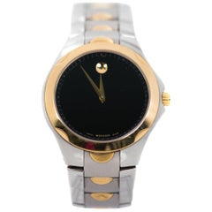 Movado Stainless Steel and Gold Tone Wristwatch, 1980s