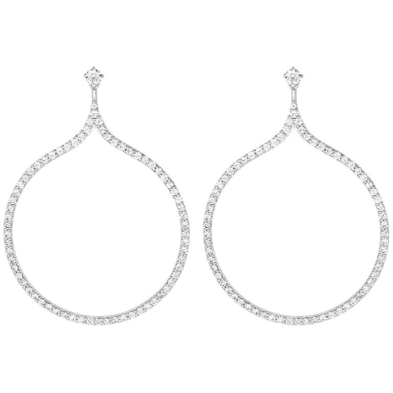 2.15 Carat Diamond Drop Earrings