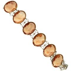 Greek Mythology Cameo Bracelet 14 Karat Very Fine