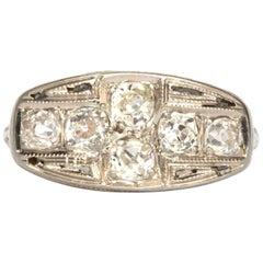 1.00 Carat Total Weight Diamond White Gold Engagement Ring