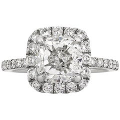 Mark Broumand 4.11 Carat Cushion Cut Diamond Engagement Ring