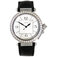 Cartier Ladies White Gold Diamond self-winding Wristwatch