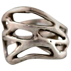 Swedish Modernist Silver Ring