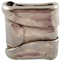 Swedish Silver Ring in Modern Design, Organic Form
