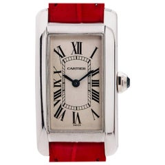 Cartier Ladies White Gold Tank Americaine quartz wristwatch, circa 1990s