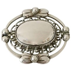 Georg Jensen Sterling Silver Brooch #91