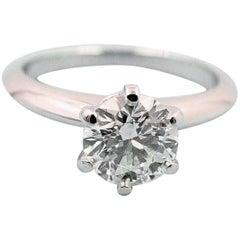 Tiffany & Co. Diamond Engagement Ring Round 1.09 Carat I VS2