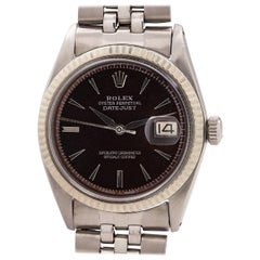 Rolex White Gold Stainless Steel Datejust self winding Wristwatch, circa 1964