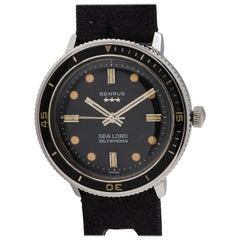 Benrus stainless steel Sea Lord Diver's Wristwatch, circa 1960s