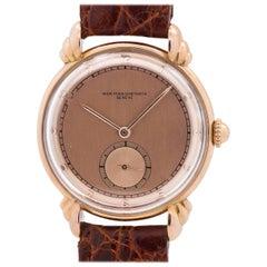 Vacheron & Constantin Pink Gold manual wind dress wristwatch, circa 1950s