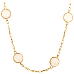Van Cleef & Arpels Vintage Yellow Gold and Ivory Necklace