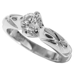Chanel Matelasse 0.40 Carat Diamond Platinum Ring