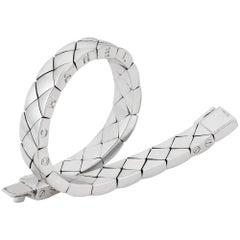 Matelasse 18 Carat White Gold Bracelet by Chanel