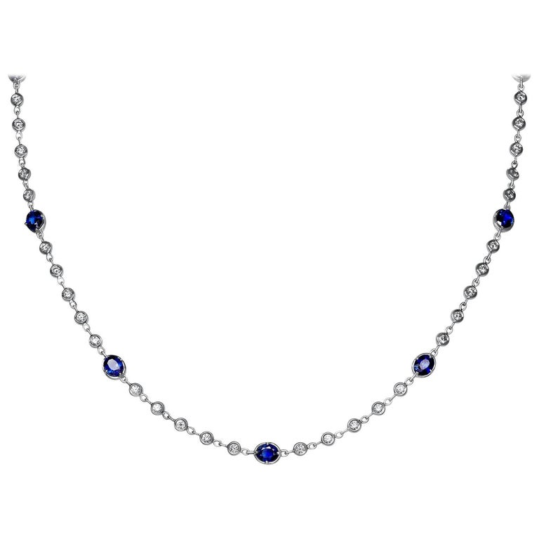 Diamond and Sapphire by The Yard Necklace