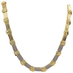 Gold and Diamond Pave' Necklace