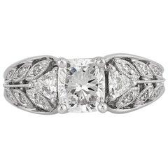 Mark Broumand 1.76 Carat Cushion Cut Diamond Engagement Ring