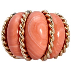Bombe Coral Gold Ring