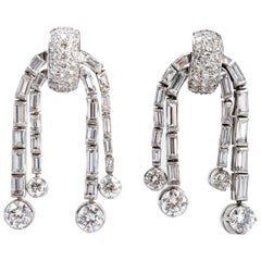 1930s Diamond Ear Pendants