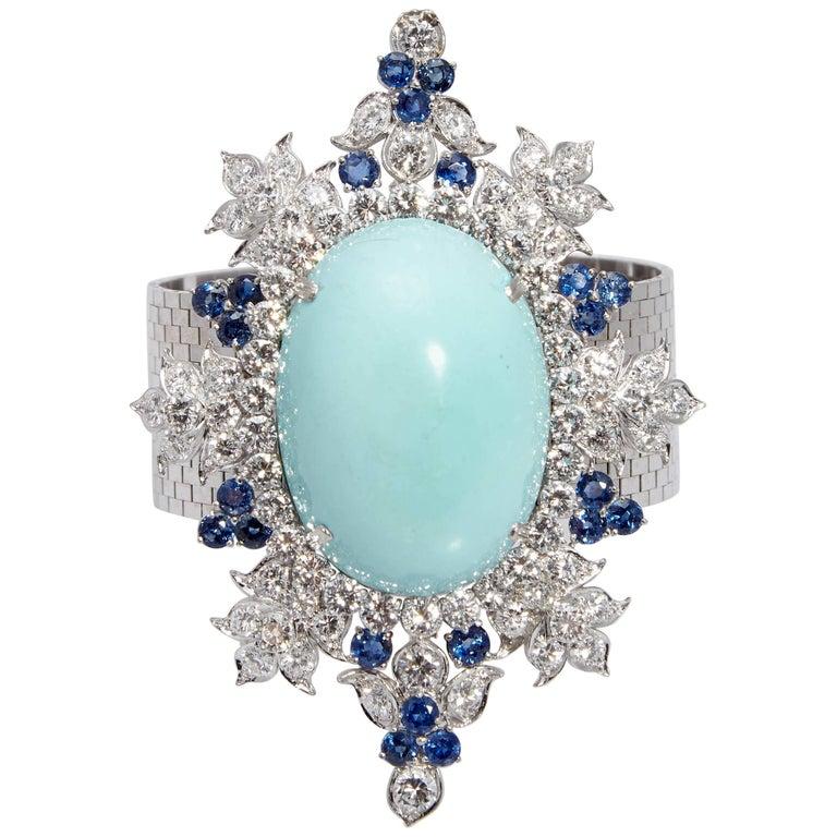 Retro Turquoise Diamond Bracelet