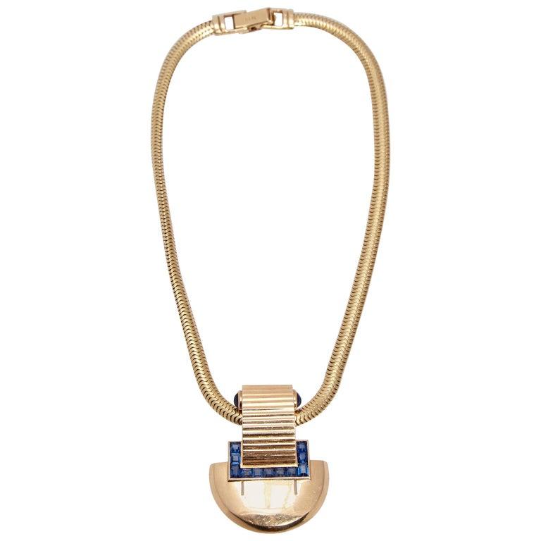 Cartier New York Retro Brooch Necklace