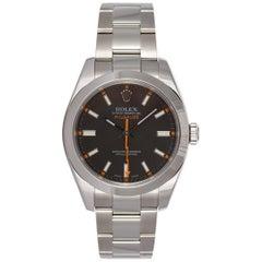 2007 Rolex Stainless Steel Milgauss 116400 Black Dial